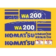 Kit Adesivos Komatsu Wa200