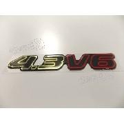 Adesivo Chevrolet 4.3 V6 Preto Resinado Bar001