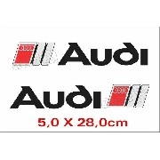 Emblema Adesivo Resinado Audi Preto Res13