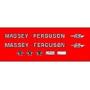 Kit Adesivos Massey Ferguson Mf 65 Mod01