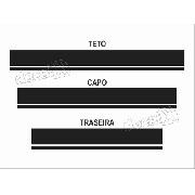 Kit Adesivo Faixas Capo, Teto E Mala Volkswagen Up Up114