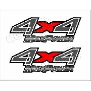 Emblema Adesivo F250 4x4 Max Power Clara 4x4mxcl