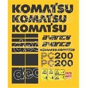 Kit Adesivos Komatsu Pc200 Avance Pc200