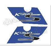 Adesivo Faixa Bmw K1300s Branca E Azul Bwk1300s01