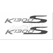 Emblema Adesivo Rabeta Bmw K1300s Branca Par Bwk1300s08