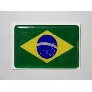 Adesivo Bandeira Brasil Resinado 6x4cm Bd1