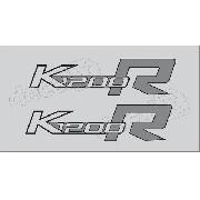 Emblema Adesivo Bmw K1200r Preta E Branca Par Bwk1200r04