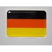 Adesivo Bandeira Alemanha Resinado 4x6cm Bd2