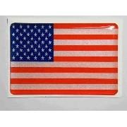 Adesivo Bandeira Eua Resinado 4x6cm Bd12