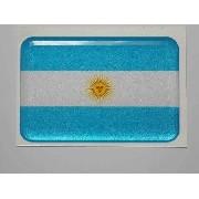 Adesivo Bandeira Argentina Resinado 4x6cm Bd3