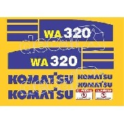 Kit Adesivos Komatsu Wa320