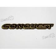 Adesivo Emblema Conquest Silverado Resinado Svr01