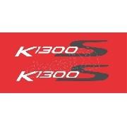 Emblema Adesivo Rabeta Bmw K1300s Vermelha Par Bwk1300s05