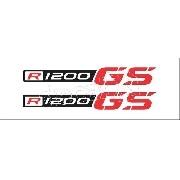 Emblema Adesivo Bmw R1200gs Gs Branca R1200gs04