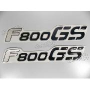 Par Adesivos F800gs Bmw Lateral Resinado Preto 19,5x3,2 Cms