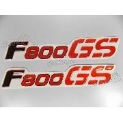 Par Adesivos F800gs Bmw Lateral Resinado Vermelho 19,5x3,2
