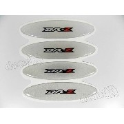 Adesivos Capacete Suzuki Drz Resinados Refletivo 2,4x10 Cms