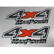 Emblema Adesivo F250 4x4 Max Power Escura 4x4mxes