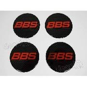 Emblema Adesivos Centro Roda Bbs 58mm Vermelho Resinado Re46