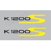 Emblema Adesivo Bmw K1200s Prata Par Bw1200s01