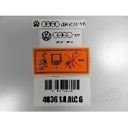 Adesivo Etiqueta Tampa Valvula Motor 1.8 Alcool Volkswagen