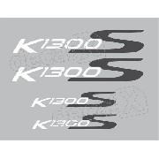 Kit Emblema Adesivo Rabeta Bmw K1300s Preta Par Bwk1300s10