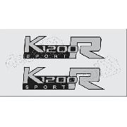 Emblema Adesivo Bmw K1200r Sport Prata Par Bwk1200r05
