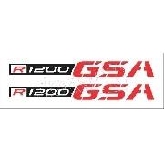 Emblema Adesivo Bmw R1200gs Gsa Branca R1200gs03