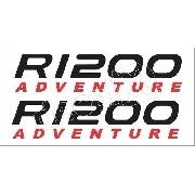 Emblema Adesivo Bmw R1200gs 1200 Adventure Branca R1200gs02