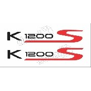 Emblema Adesivo Bmw K1200s Branca Par Bw1200s03