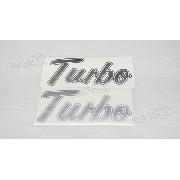 Emblema Adesivo Ford F1000 Turbo Prata Tbpr