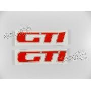Adesivo Emblema Resinado Gti Golf Antigo Gtigf