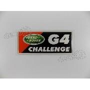 Emblema Adesivo Resinado Land Rover G4 Challenge Div6