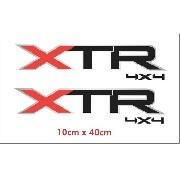 Par Adesivos Xtr 4x4 Ford Fora De Estrada Xtr4x4