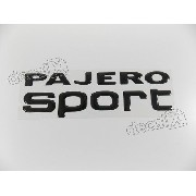 Adesivo Pajero Sport 2009 Preto Resinado Pjsppt