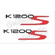 Emblema Adesivo Bmw K1200s Branca E Azul Par Bw1200s04