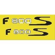 Emblema Adesivos Bmw F800s Amarela Par Bwf800s01