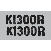 Emblema Adesivo Bmw K1300r Preta Par Bwk1300r03