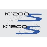 Emblema Adesivo Bmw K1200s Branca E Prata Par Bw1200s02