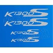 Kit Emblema Adesivo Rabeta Bmw K1300s Azul Par Bwk1300s09