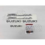 Kit Jogo Faixa Emblema Adesivo Suzuki Bandit 600n 2001 Preta