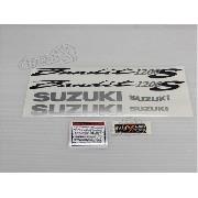Jogo Faixa Emblema Adesivo Suzuki Bandit 1200s 2005 Prata