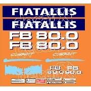 Kit Adesivos Fiatallis Fb 80.0