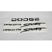 Kit Adesivos Dodge Dakota Sport Em Preto Dksptp