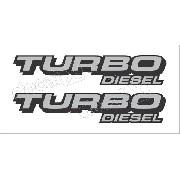 Emblema Adesivo F250 Turbo Diesel Prata/preto Tdslpp