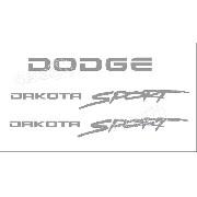 Kit Adesivos Dodge Dakota Sport Em Prata Dksptpa