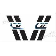 Adesivo Faixas Laterais Volvo R C30 C301
