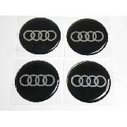 Adesivos Emblema Resinado Roda Audi 90mm Cl6