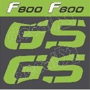 Kit Emblemas Adesivo Bmw F800gs Verde 2012 F80010