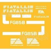 Kit Adesivos Fiatallis Fg 85bv Antigo